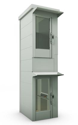 Вертикальный подъемник закрытого типа